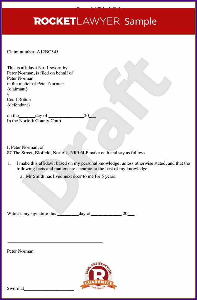 Affidavit Template Word Uk