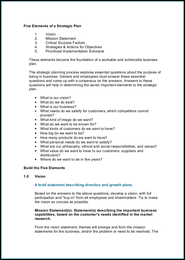 Avention Strategic Account Plan Template