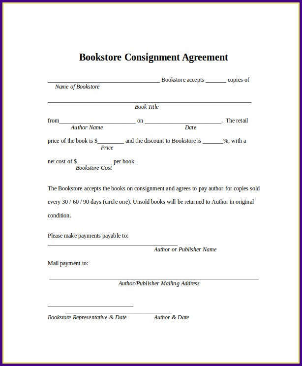 Basic Consignment Agreement Template