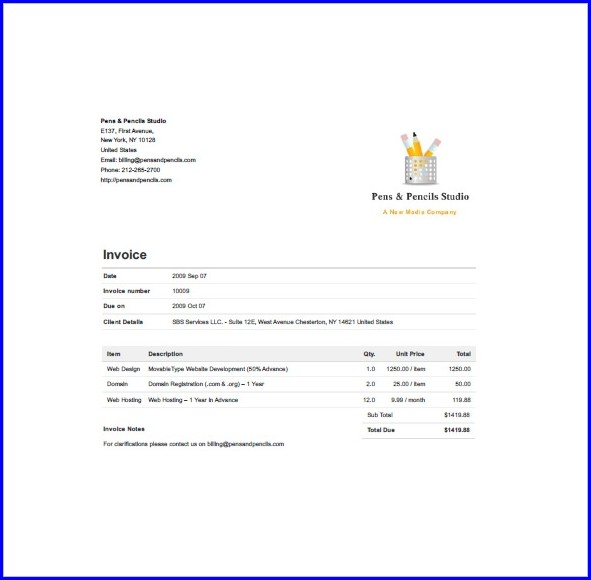 Basic Freelance Invoice Template