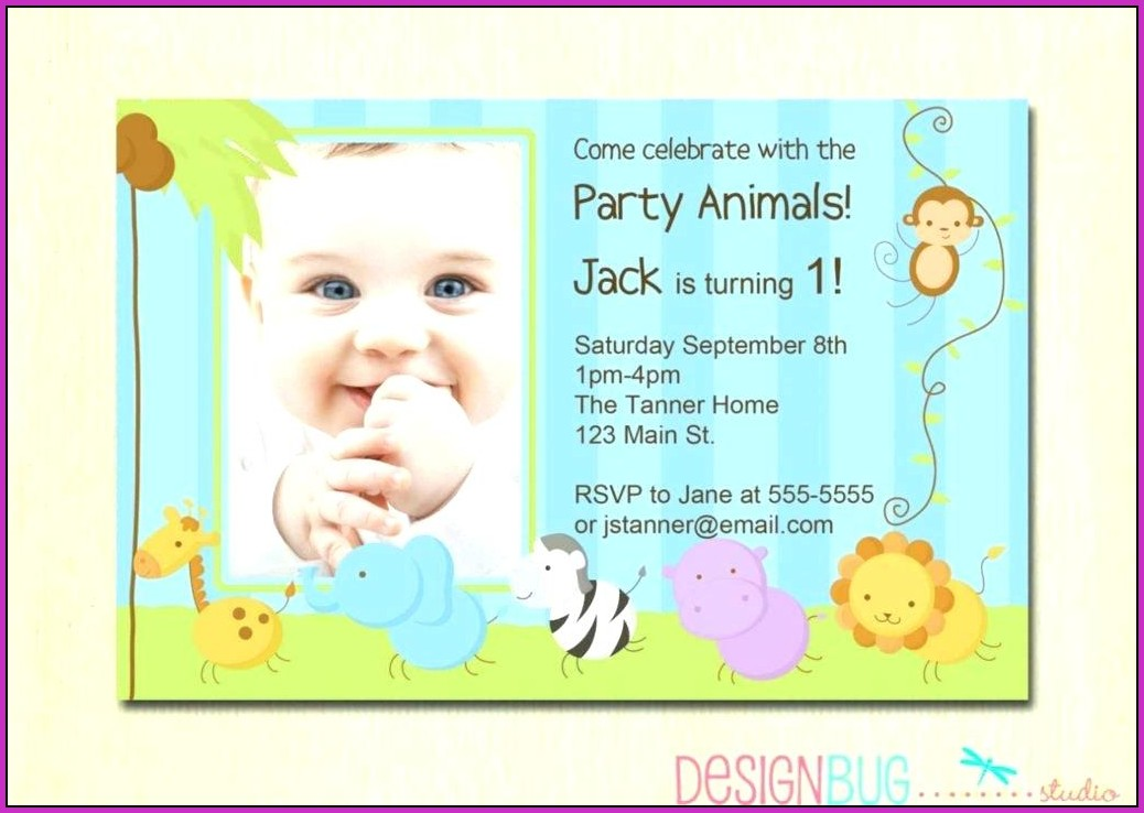 Birthday Invitation Templates 1 Year Old