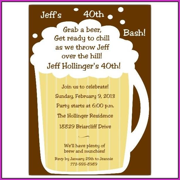 Birthday Invitation Templates 40th