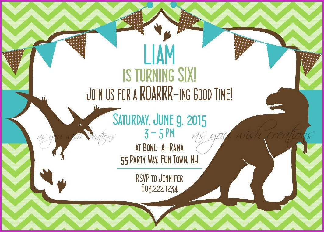 Birthday Invitation Templates Dinosaurs