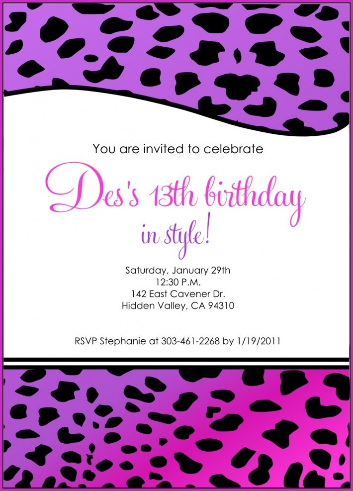Birthday Invitation Templates Google Docs