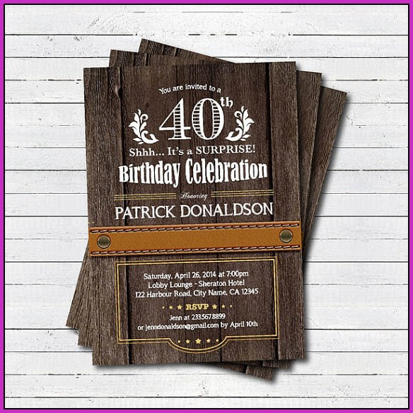 Birthday Invitation Templates Pdf