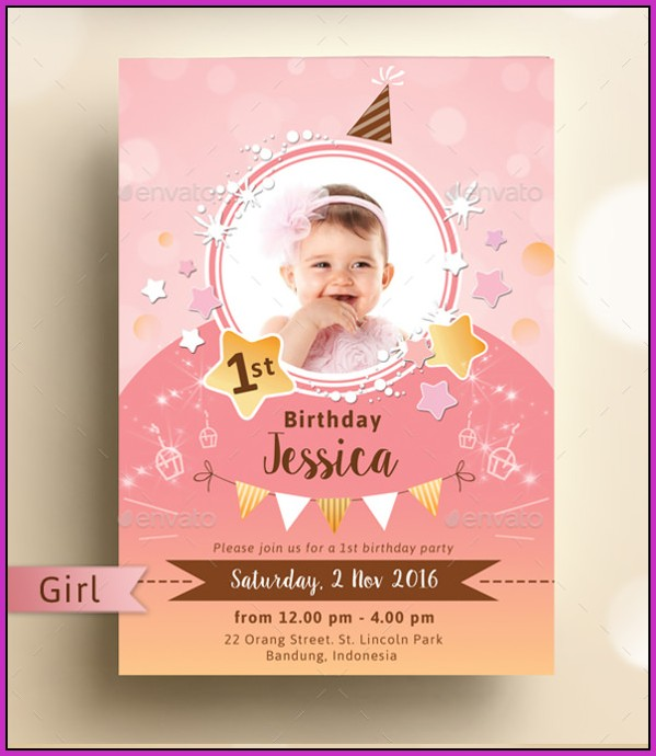 Birthday Invitation Templates Psd