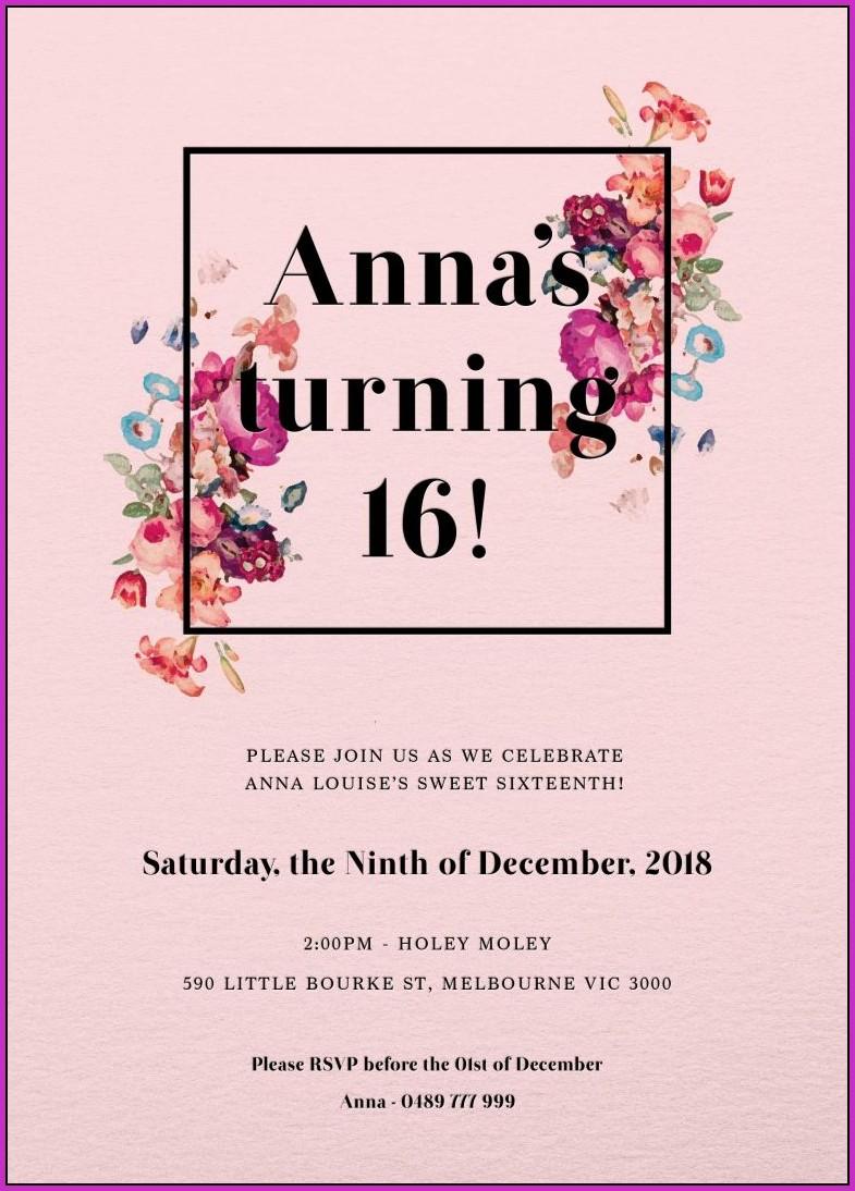 Birthday Invitation Templates With Photo