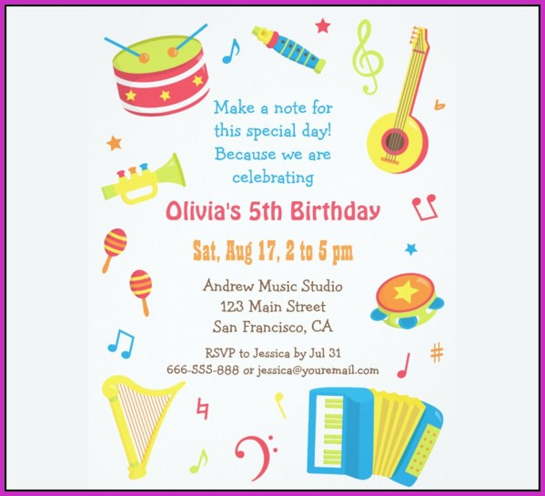 Birthday Invitation Templates Word