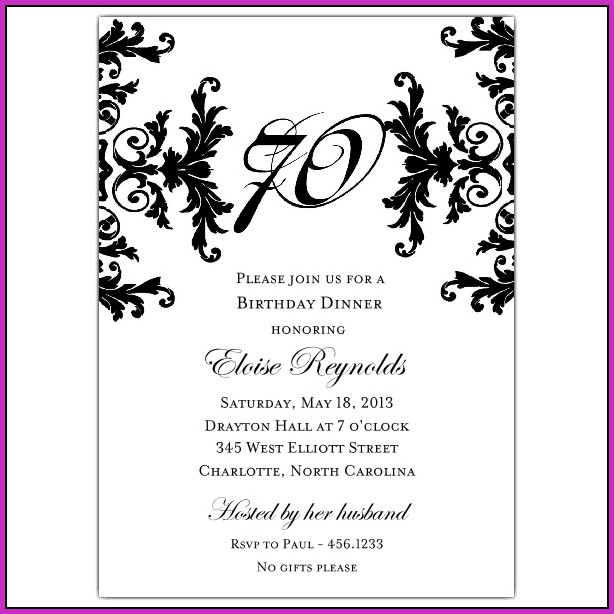 Birthday Invitation Text Samples