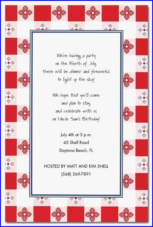 Birthday Picnic Invitation Template