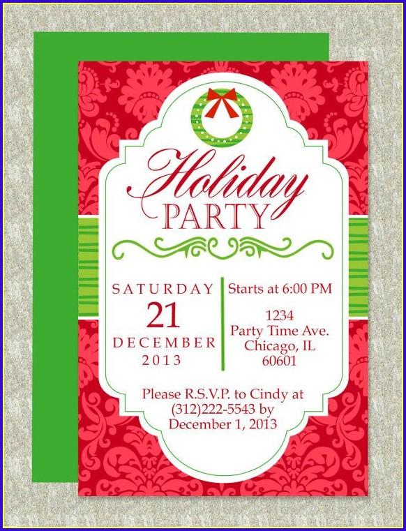 Christmas Invitation Templates Word Free
