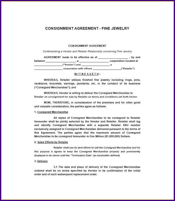 Consignment Stock Agreement Template South Africa