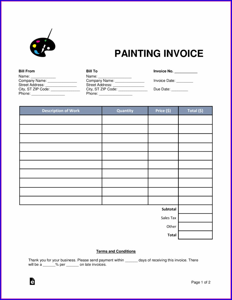 Contractor Receipt Template Free