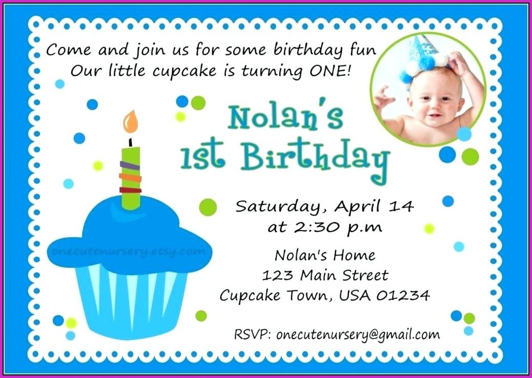 First Birthday Invitation Templates India