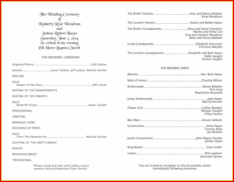 Free 50th Wedding Anniversary Program Templates