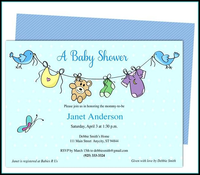 Free Baby Shower Invitation Templates For A Boy