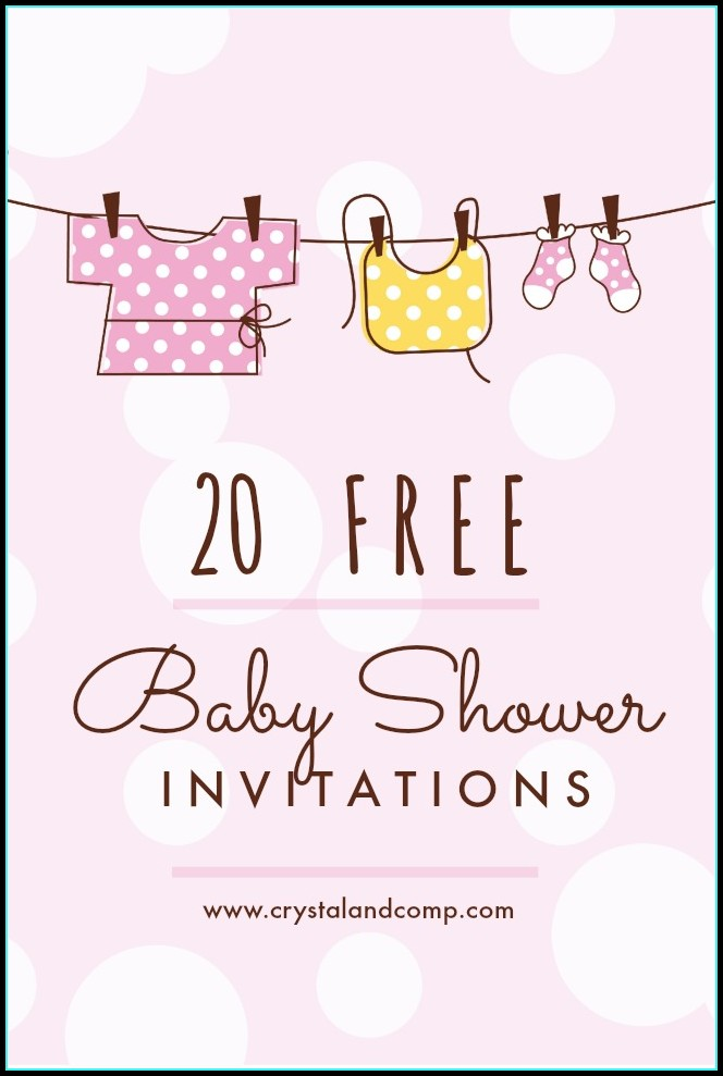 Free Baby Shower Invitation Templates