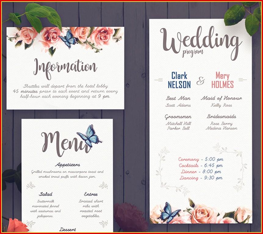 Free Elegant Wedding Program Templates
