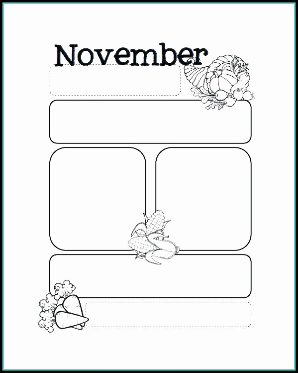 Free November Preschool Newsletter Templates