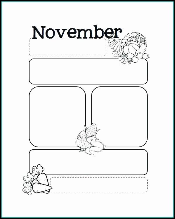 Free November Preschool Newsletter Templates