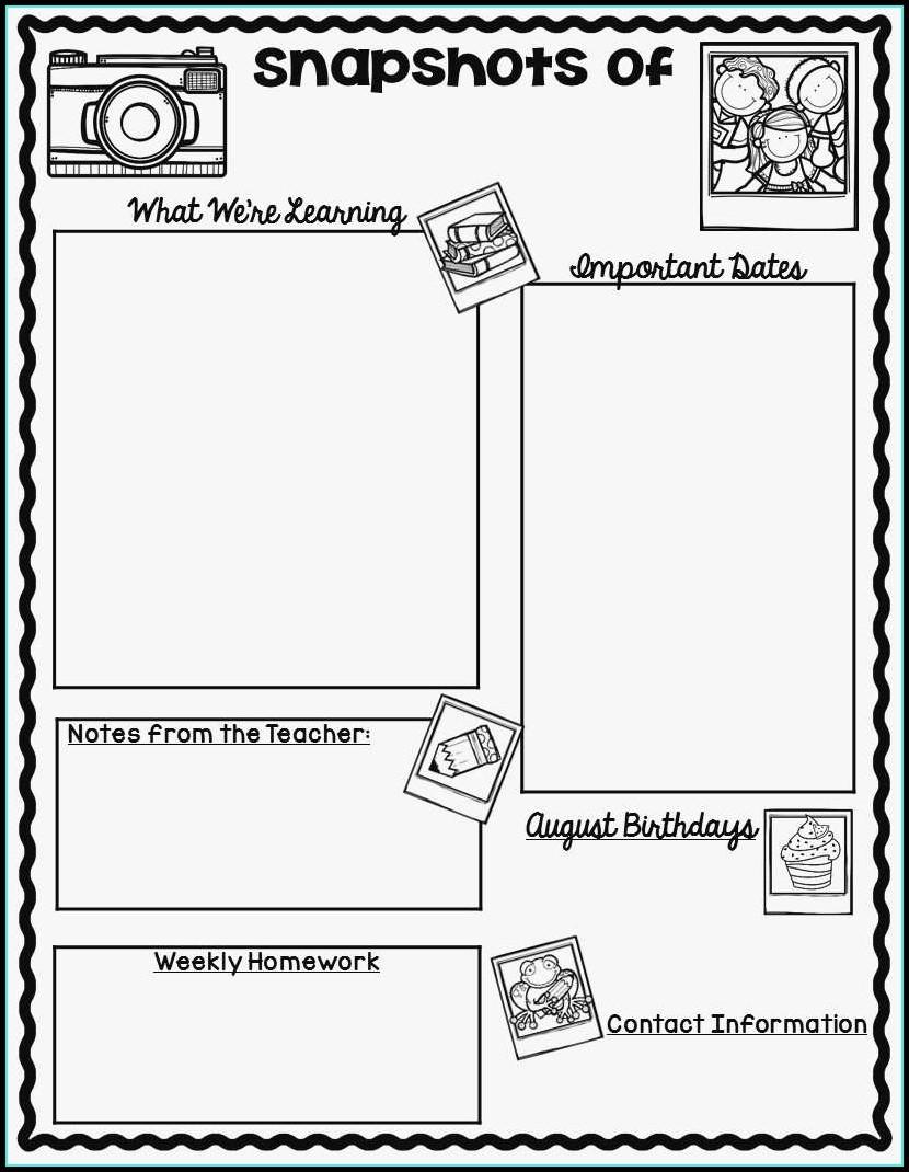 Free Preschool Newsletter Templates For Teachers