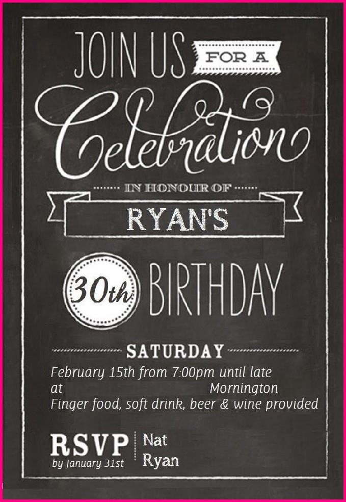 Free Printable 30th Birthday Invitation Templates