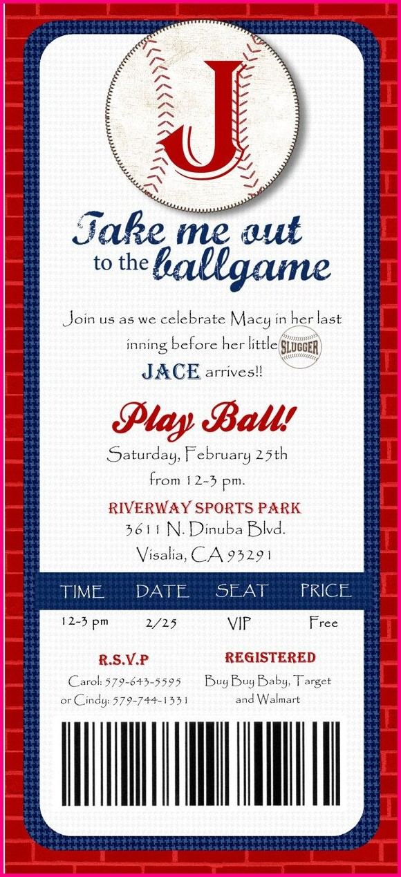 Free Printable Baseball Invitation Templates