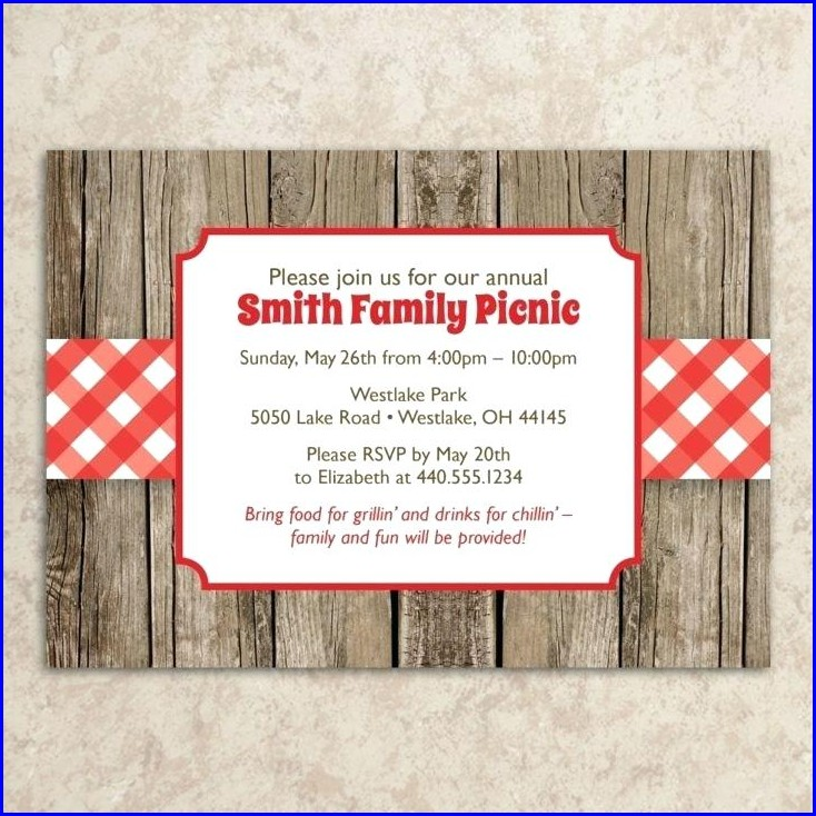 Free Printable Company Picnic Invitation Template