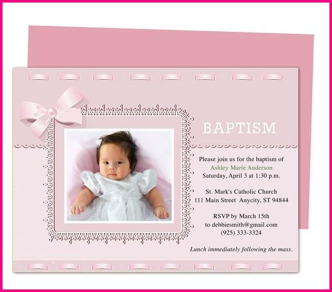 Free Printable Invitation Templates For Baptism