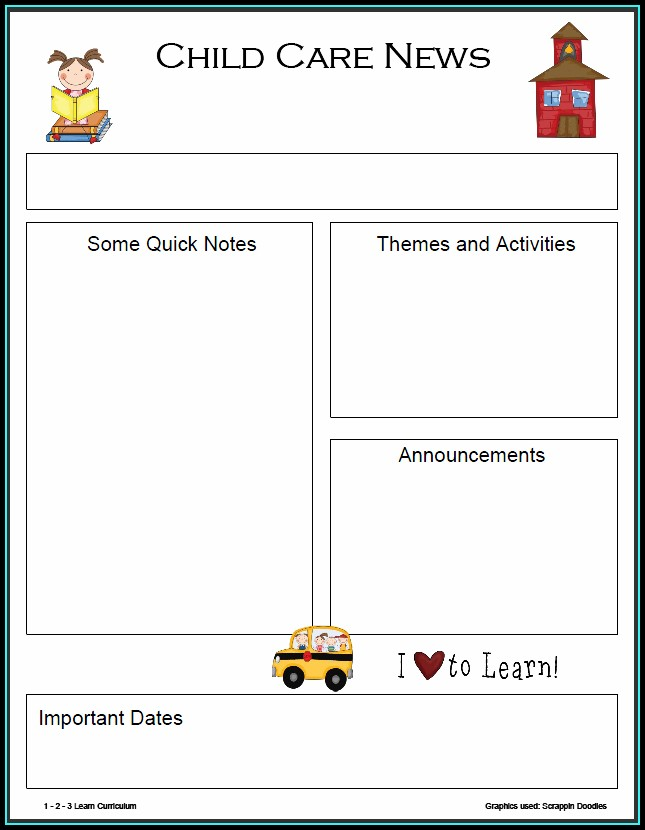 Free Printable Preschool Newsletter Templates