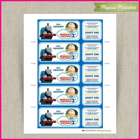 Free Printable Train Invitation Templates