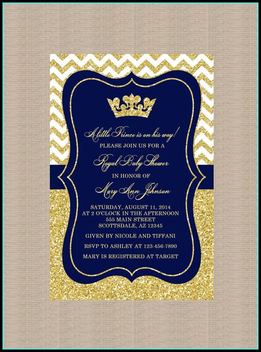 Free Royal Baby Shower Invitation Templates
