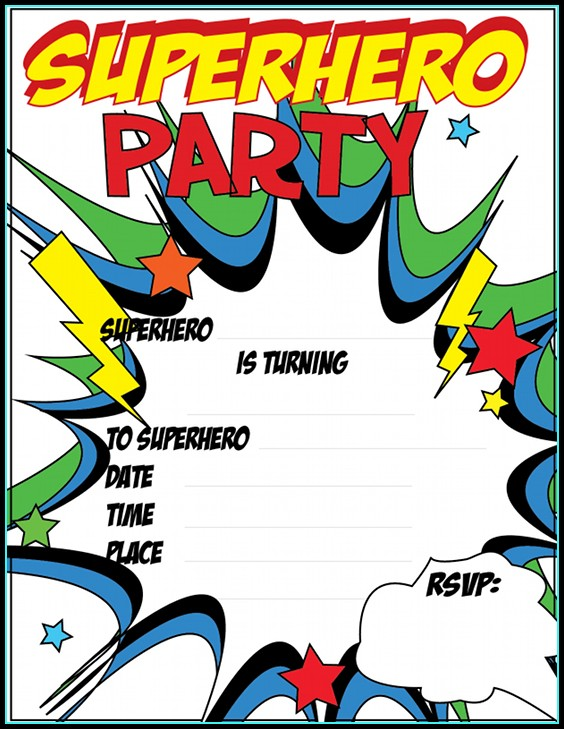 Free Superhero Baby Shower Invitation Templates