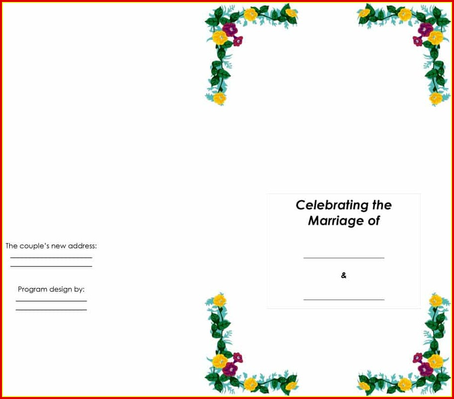 Free Wedding Program Design Templates