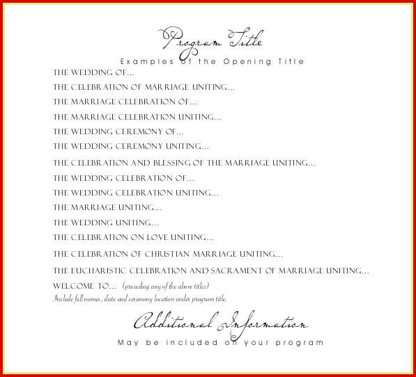 Free Wedding Program Templates Download