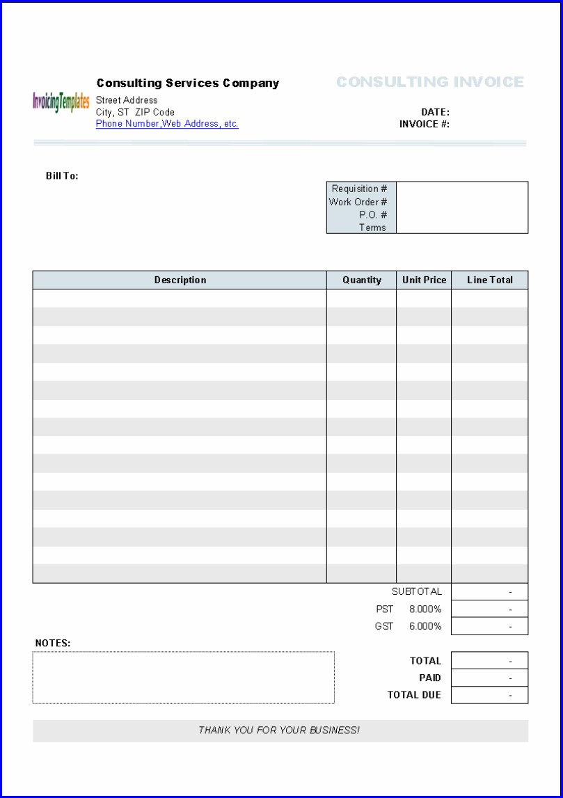 Freelance Invoice Template Mac
