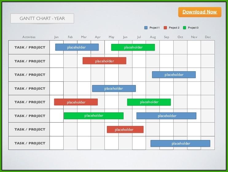 Gantt Chart Template Keynote