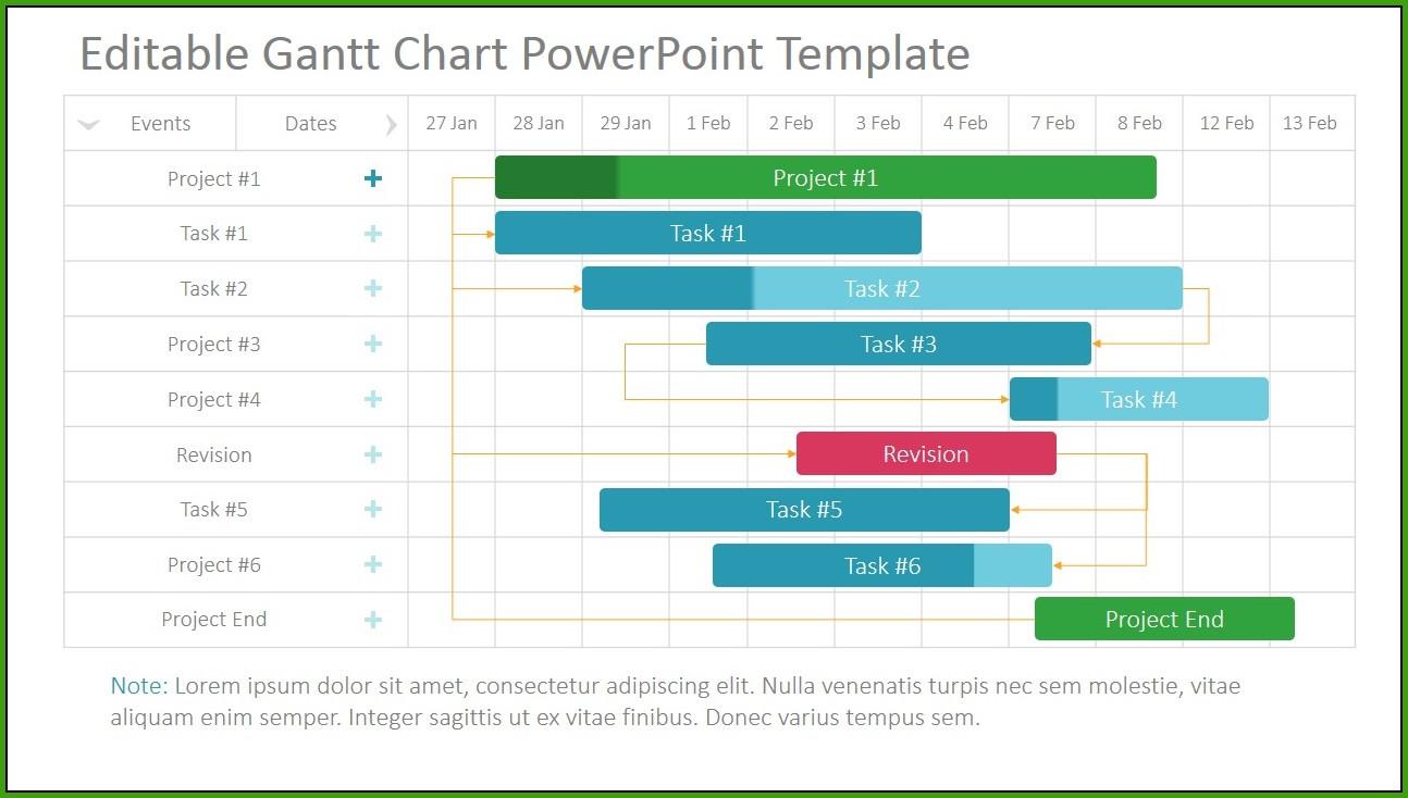 Gantt Chart Template Timeline