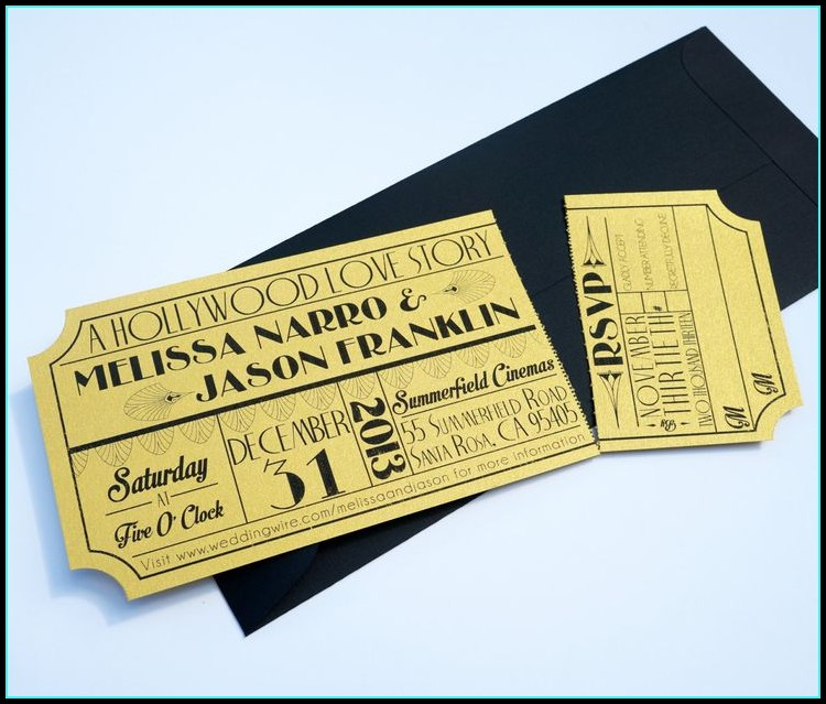 Hollywood Prom Ticket Template