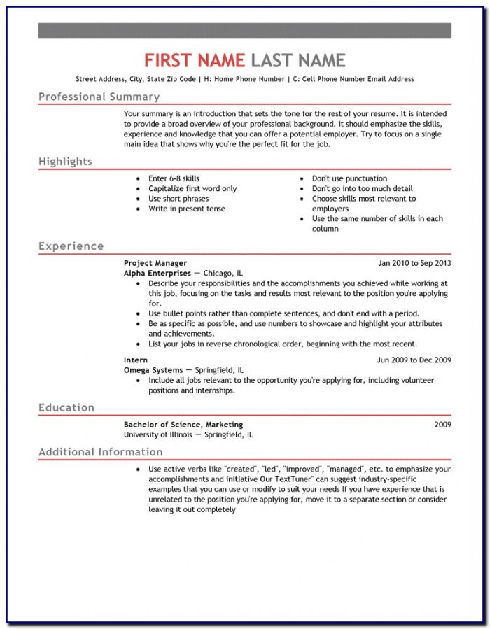 I Need A Professional Resume Template