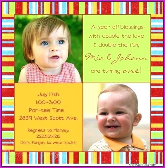 Joint Birthday Invitation Templates
