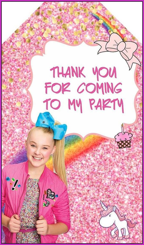 Jojo Siwa Birthday Invitation Templates