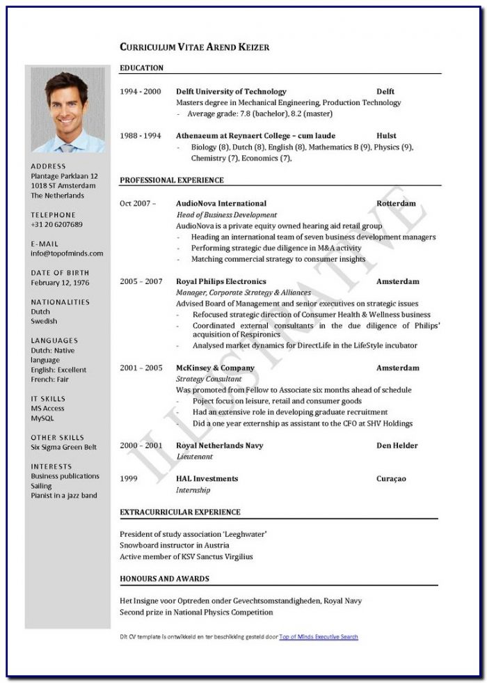 Latest Professional Resume Template