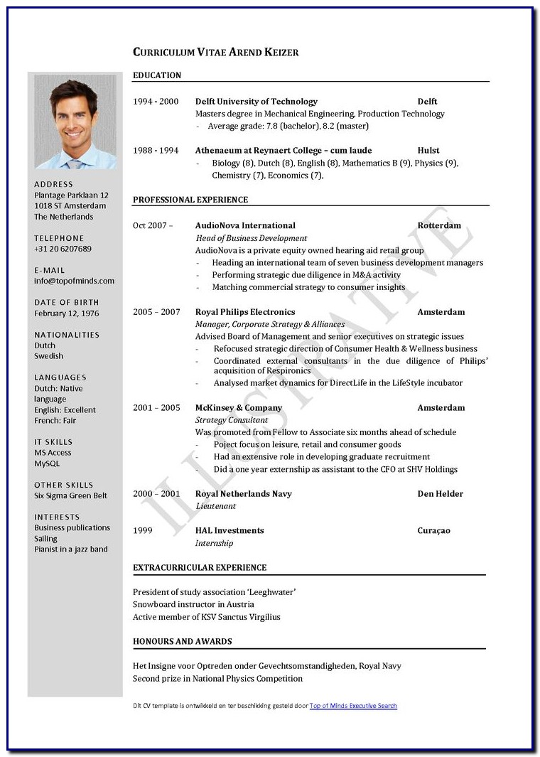 Latest Professional Resume Template