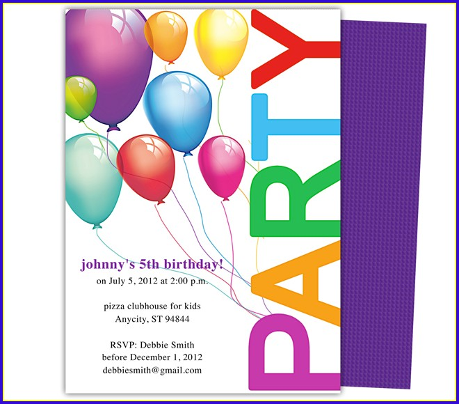 Party Invitation Templates Word