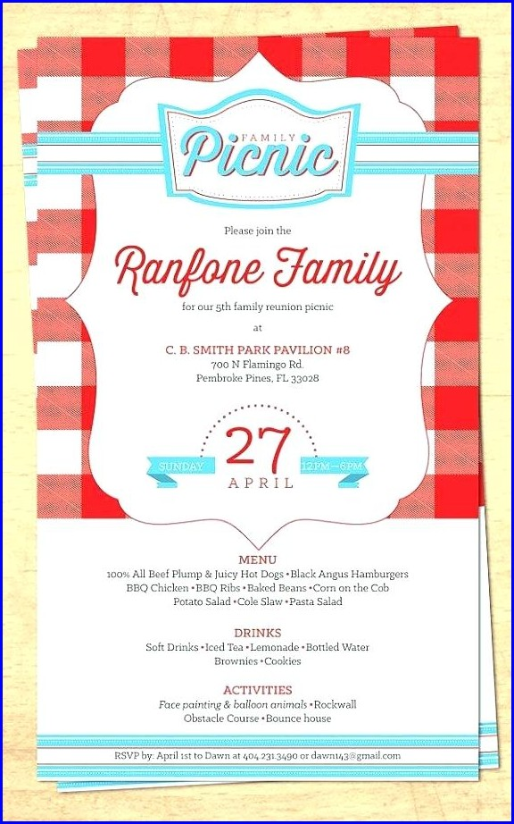 Picnic Invitation Template Printable