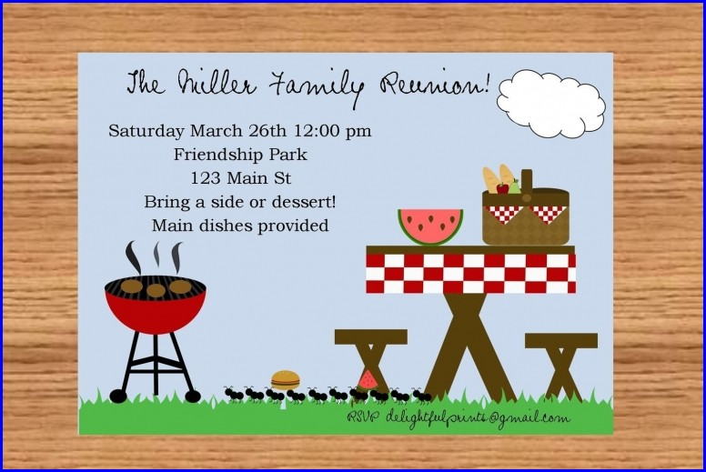 Picnic Invitation Template Word