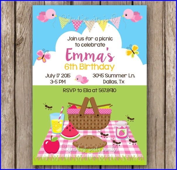 Picnic Invitation Template