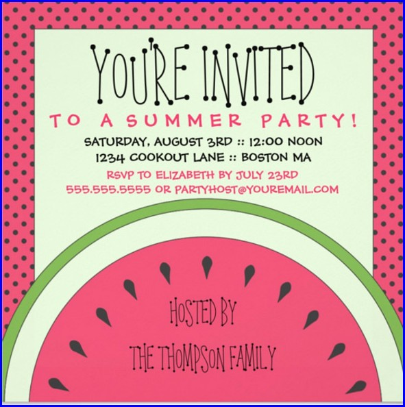 Picnic Party Invitation Templates