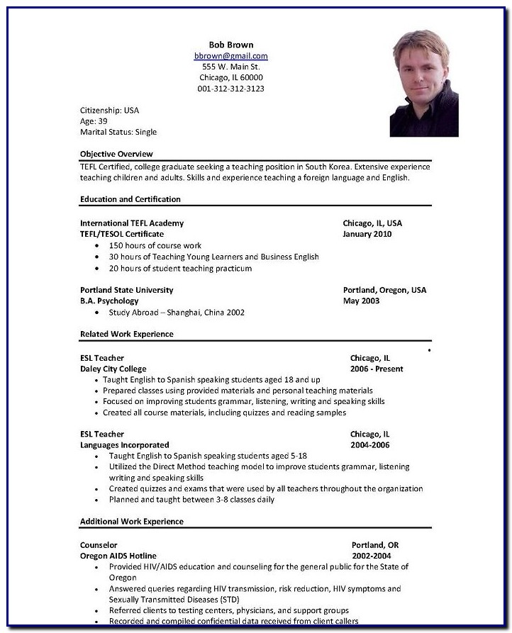 Professional Cv Template For Retail